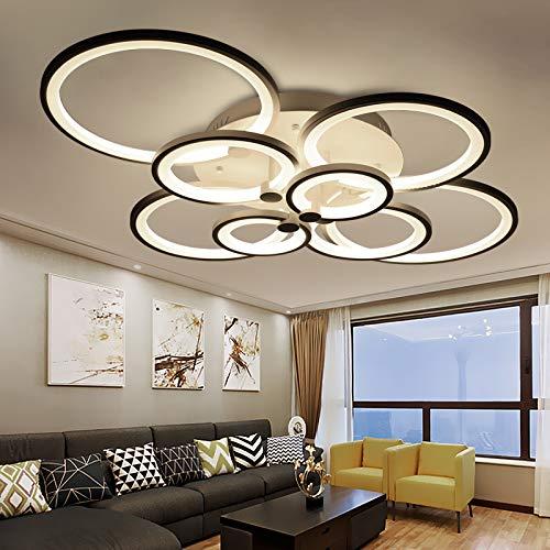 LED Deckenleuchte 6067-8 100x80x17cm LED 148W mit Fernbedienung Lichtfarbe/Helligkeit einstellbar Acryl-Schirm weiß lackierte Metallrahmen Design A+ (6067-8 148W)