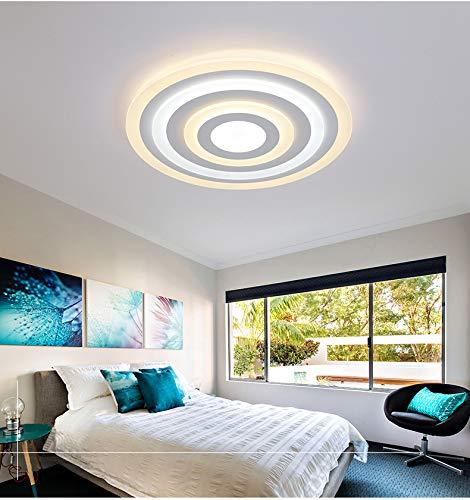 TonHan LED Deckenleuchte X096 mit Fernbedienung Lichtfarbe/helligkeit einstellbar Acryl-Schirm A+,LED Wohnzimmerleuchte (096 ∅50cm 68W)