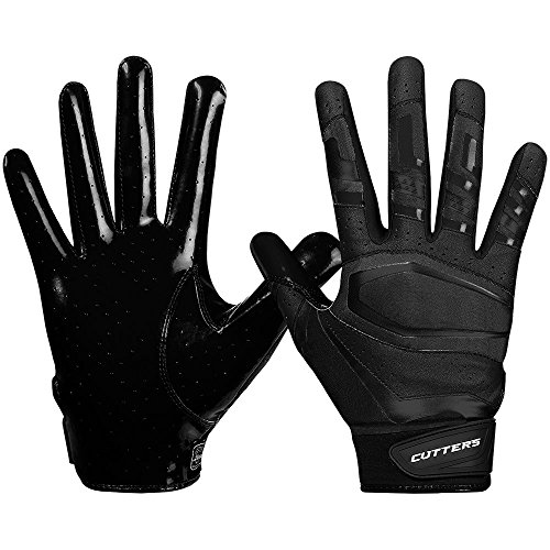 Cutters American Football Gloves S452 Rev Pro 3.0 Solid Receiver Handschuhe Design 2018 - schwarz Gr. XL