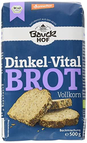 Bauckhof Dinkel-Vitalbrot Vollkorn Demeter, 6er Pack (6 x 500 g)