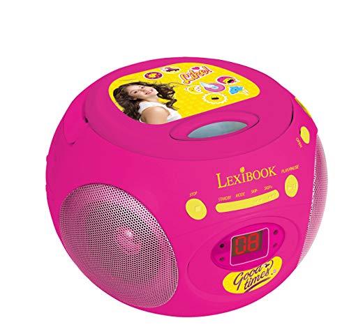 Radio CD-Player mit Girly-Design, Boombox mit Kopfhörerbuchse, AUX-IN-Buchse, UKW-Radio, Mädchen, AC oder batteriebetrieben, Pink / Gelb, RCD102SL