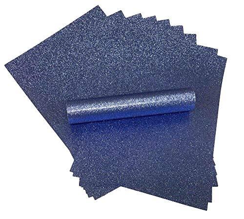 Glitzer papier, A4, schillernd, weiche Haptik, fusselfrei, dick (150 g/m²), blau (mid blue), 10 Blätter