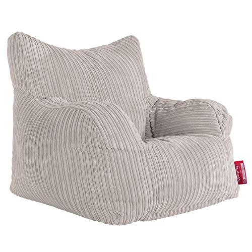 Lounge Pug, Sitzsack Ohrensessel mit Hocker, Cord Creme