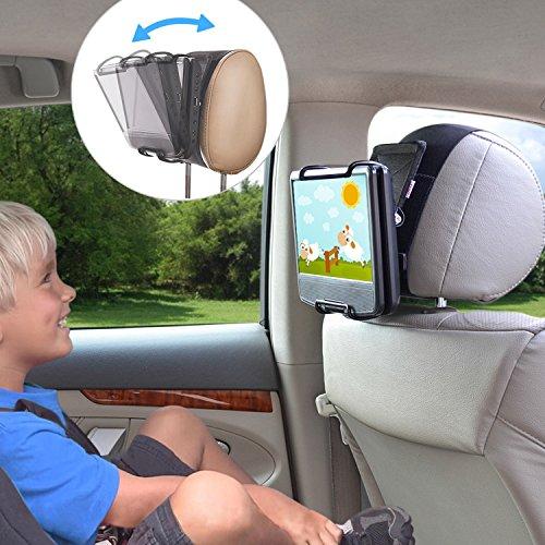 TFY Universal Autokopfstützen Halterung mit Winkelverstellbaren Halterungsklemmen für Swivel Display Portable DVD-Player