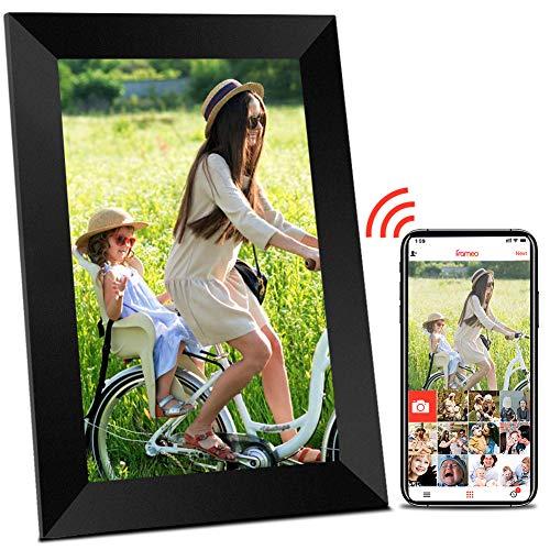 Digitaler Bilderrahmen WLAN Elektronischer Bilderrahmen - 10 Zoll Digitaler Fotorahmen mit WiFi, Hochauflösendem HD Touchscreen, Automatischer Bilddrehung, Foto Video über App aus Handy sofort teilen