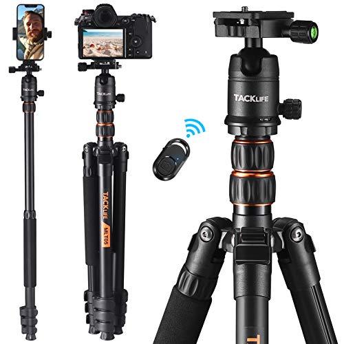TACKLIFE Kamerastativ mit Einbeinstativ, 178cm, Maximale Tragkraft 8kg, Aluminium Reisestativ mit 360° MetallKugelkopf & Schnellwechselplatte, Bluetooth-Fernbedienung