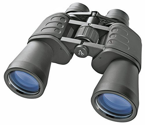 Bresser Fernglas Hunter 20x50 mit hoher Vergrößerung, vollvergüteter Optik und robustem gummiarmiertem Korpus inklusive Stativanschlussgewinde, Dioptrienausgleich, Transporttasche und Umhängegurt