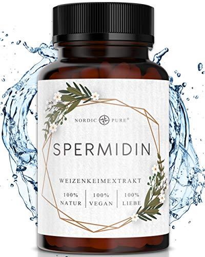 Spermidin Kapseln hochdosiert von Nordic Pure   Natürliches Weizenkeimextrakt mit hohem Spermidingehalt   90 vegane Spermidine Kapseln