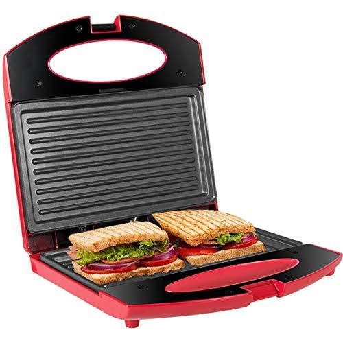 Gotoll Sandwichmaker, Sandwich- & Paninitoaster, Kontaktgrill mit rutschfesten Füßen, Toastplatte für Sandwichtoaster, Antihaftbeschichtung, Tisch-Grill, Kontrollleuchte (Sandwichmaker 2er)