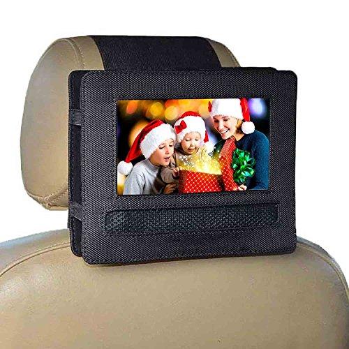 RUISIKIOU Auto Kopfstützenhalterung für 10-10.5 Zoll DVD-Player mit Neigungs- und Schwenkfunktion Kfz Halterung Kopfstütze