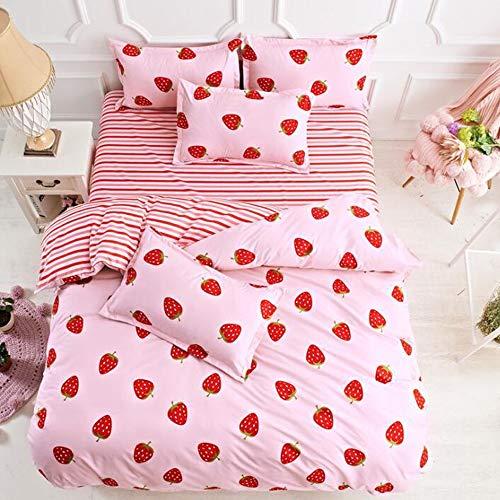 Bettlaken-Set Einfacher Druck Mode DREI/Vier Anzug Bettwäsche (Color : 05, Size : S1)