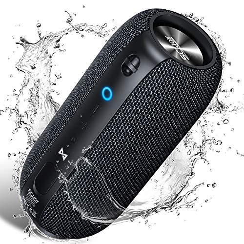 Bluetooth Lautsprecher IPX7 Wasserdicht, SCIJOY Wireless Lautsprecher, Verbesserter 24W Tragbarer 360° Stereo Sound, Satter Bass, für Heim/Outdoor, Dusche, Party, Garten und Garage ios und Android