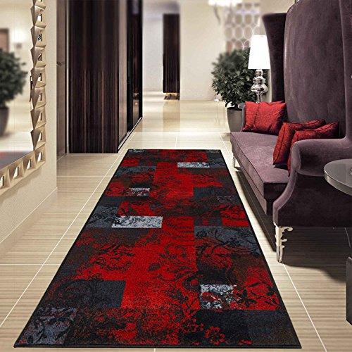 Teppich-Läufer auf Maß Maraba | Moderner Wohnteppich für Flur, Küche, Schlafzimmer | Meterware, viele Größen | rutschfest, robust & pflegeleicht (80 x 150 cm)