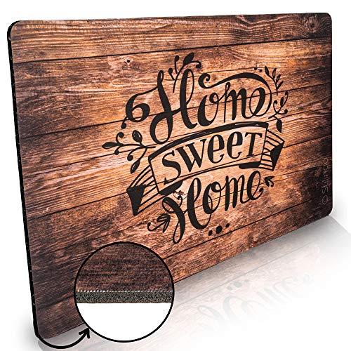 Stilingo Fussmatte innen rutschfest 50x70 cm - Home Sweet Home Fußmatte lustig waschbar für strahlend saubere Schuhe & stylisch modernen Eingangsbereich