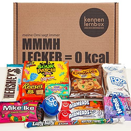 USA Box   Kennenlernbox mit 12 beliebten Süßigkeiten aus Amerika   Geschenkidee für besondere Anlässe