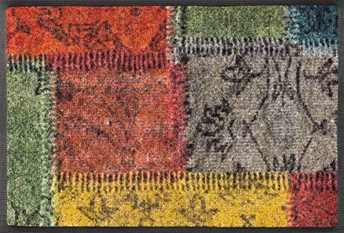 wash+dry Fußmatte, Vintage Patches 40x60 cm, innen und außen, waschbar