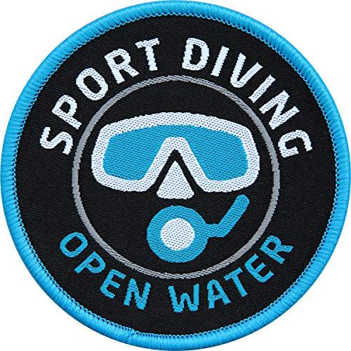 Club of Heroes 2 x Taucher Aufnäher gewebt 62 mm/Sport Diving Tauchen Open Water Diver/Aufnäher zum Aufnähen Flicken Sticker/Wassersport Tauchsport Tauchschule
