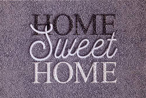 oKu-Tex Fußmatte | Schmutzfangmatte | 'Deco-Style Entrance' | Home Sweet Home | Aufdruck | für innen | Eingangsbereich / Haustür / Treppenhaus | rutschfest | 40x60 cm
